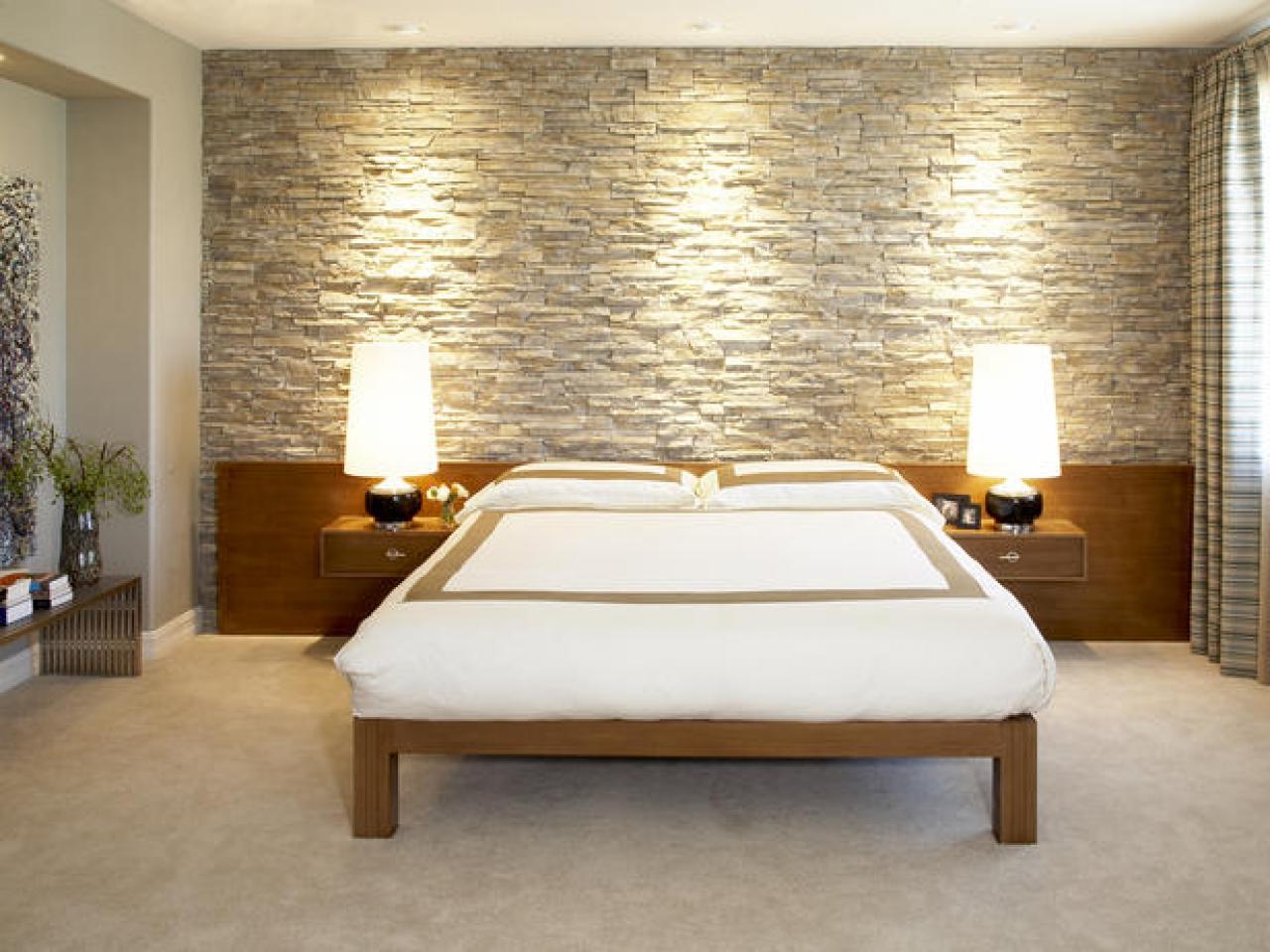 Piastrelle decorative in casa. Decorazione di interni in pietra ...