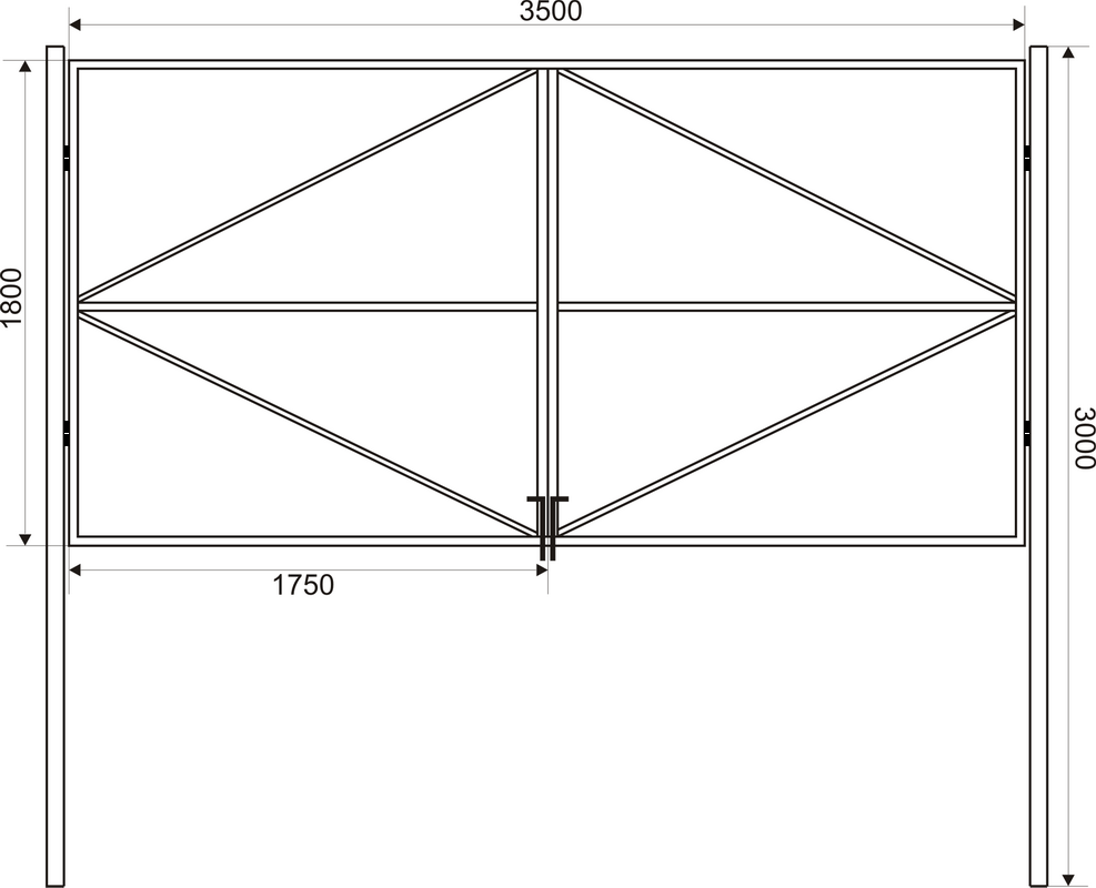 схема ворот из профнастила
