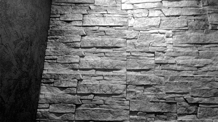 Piastrelle decorative in casa decorazione di interni in pietra