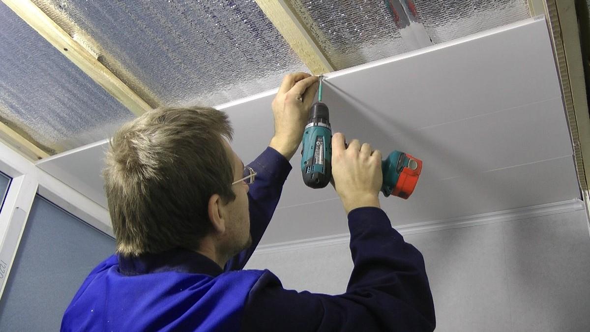 Как Обшить Потолок Панелями ПВХ: Инструкция, Фото 71