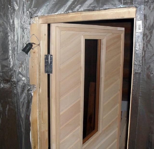 Как сделать дверь для сауны своими руками 47