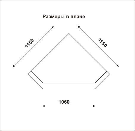 чертеж углового камина из гипсокартона